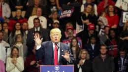 美国候任总统特朗普启动庆祝胜选巡游